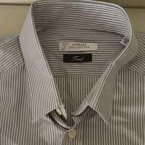 Versace collection trend button down shirt